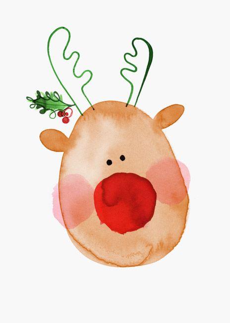 Margaret Berg Art: Reindeer Joy