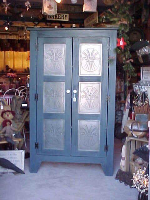 Copper Panels For Pie Safes | Furniture Pie Safes U0026 Jelly Cabinets
