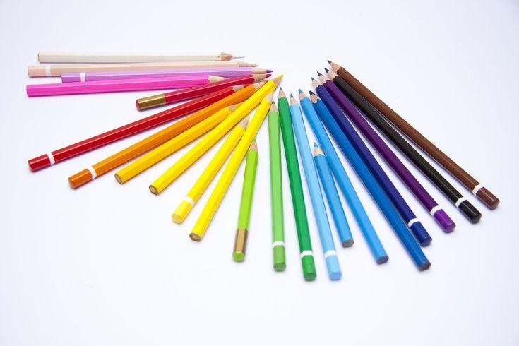 Kredki, Dzieci, Rysować, Tęcza, Malować, Kolorować
