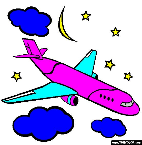 Airplane Coloring Page | Free Airplane Online Colo