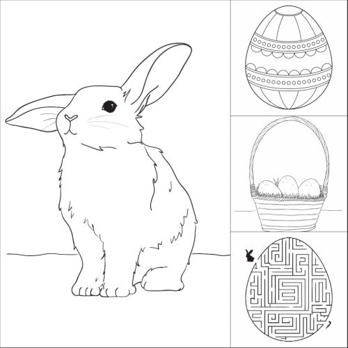 Free Easter Coloring Pages from Make & Takes.