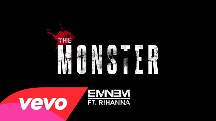 im friends with the monster thats under my bed, get along with the voices inside of my head, you're trying to save me, stop holding your breath. and you think im crazy, well thats nothing! THE MONSTER - Eminem and Rihanna