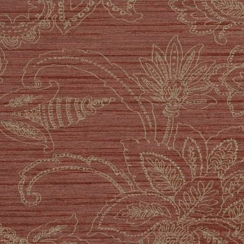 Floral Commercial Wallcovering by Walls Republic in #marsala. #coloroftheyear #pantone