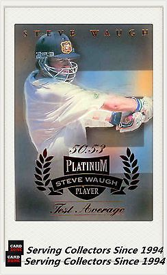 Cricket Cards 25579: 1996 97 Futera Cricket Decider 1St Day Steve Waugh Platnum Sw3- Test Series-Rare -> BUY IT NOW ONLY: $95 on eBay!