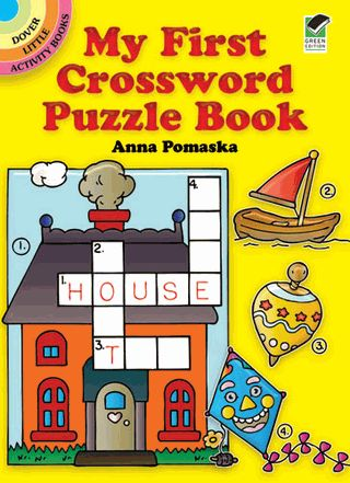 25 charmingly illustrated puzzles, each with pictures of 4 different subjects — from toys and animals to storybook characters. Numbered pictures correspond to numbers on first square of word to be spelled.