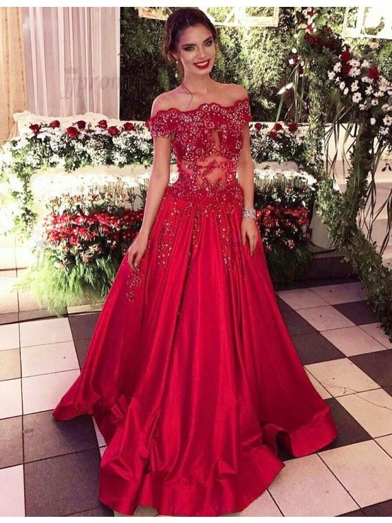 88ef8e69df85 elegant prom dresses, off shoulder prom dresses, red prom dresses, beaded prom  dresses, long evening dresses, formal dresses, party dresses#SIMIBridal #  ...