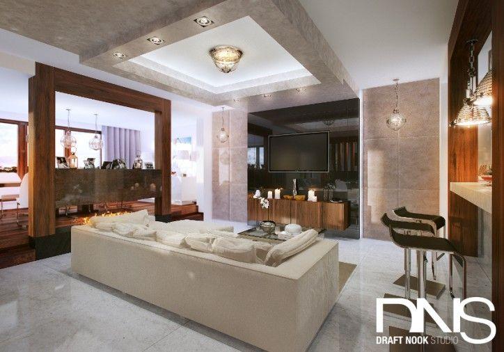 Projekt salonu - styl nowoczesny