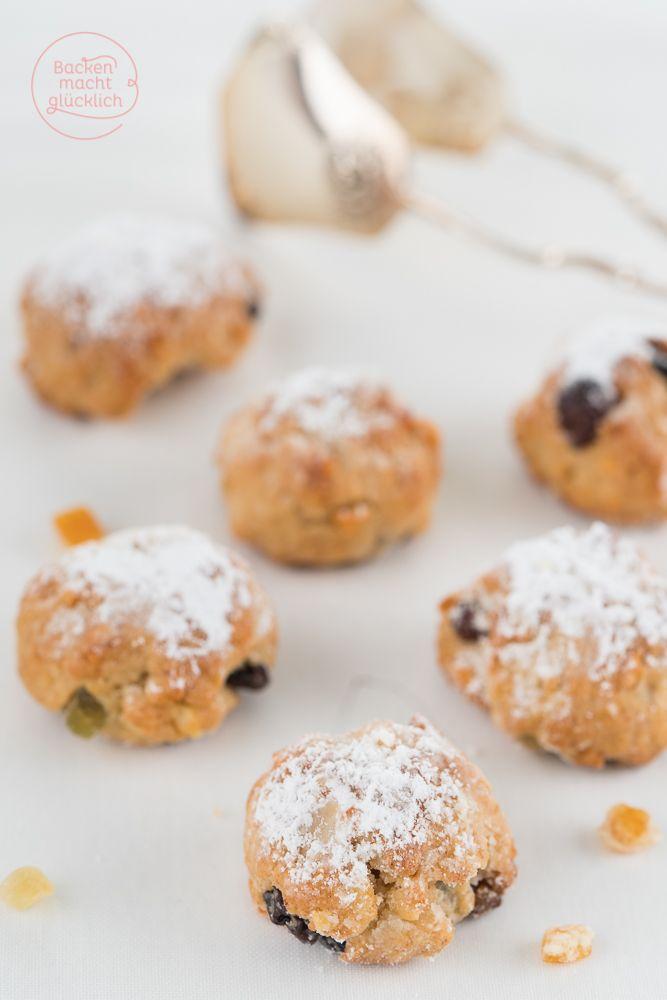 Stollenkonfekt mit Marzipan, mein liebstes Rezept für Christstollen in der Minivariante | www.backenmachtgluecklich.de