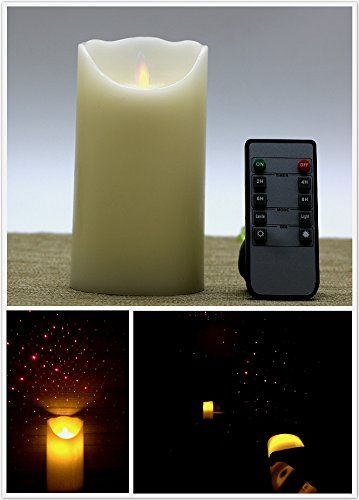 Kitch Aroma Laser Lights Christmas Wax Moving Flame Candle with