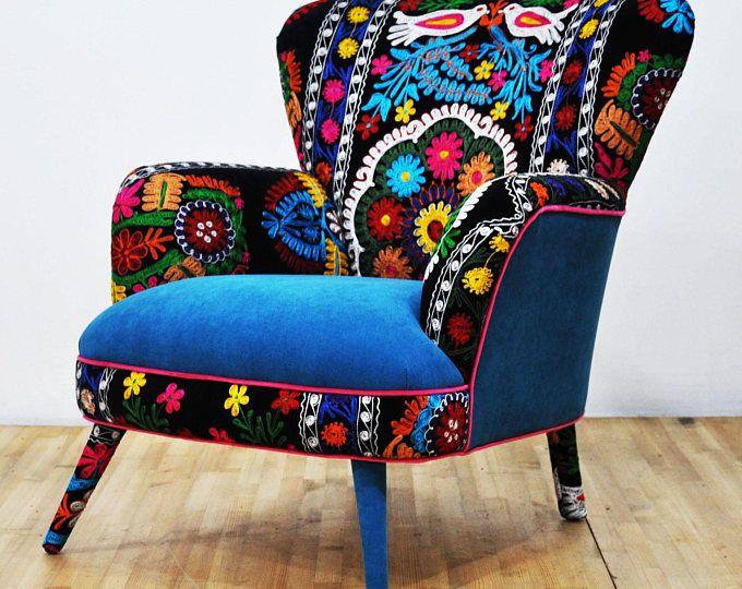 Suzani Armchair Birds In Love Armchairs