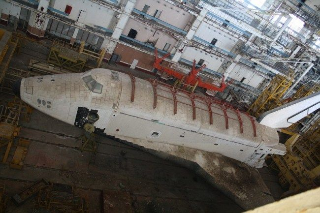 Abandoned Russian shuttle at the Baikonur Cosmodrome | All ...