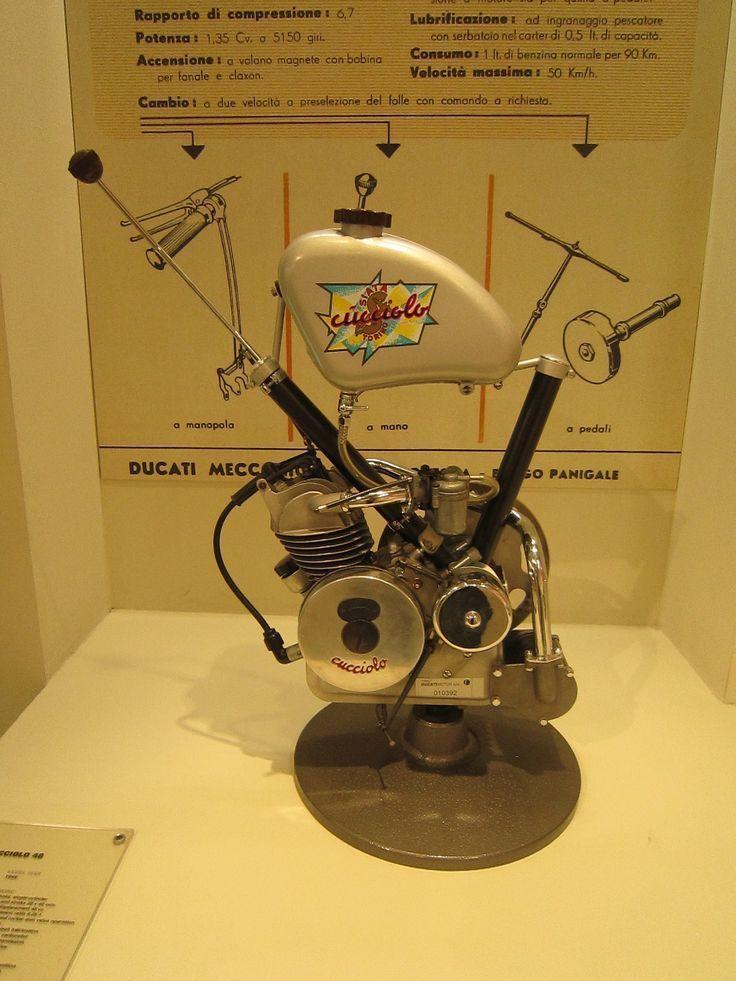 Original Ducati Motor found at the Ducati Museum in Bologna Italy
