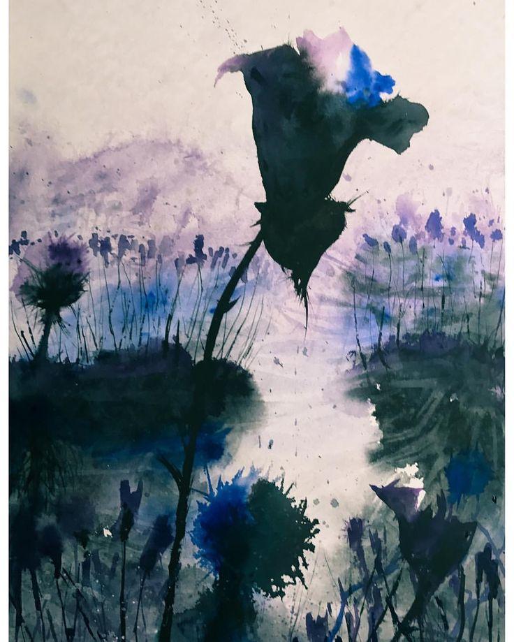 Lavender Bloom #watercolours #watercolors #watercolor #watercolour #pretty #purple #blue #art #beauty #beautiful #abstract #nature #colour #color #dream #rose #inspiration #inspiring_watercolors #flowers #painting #aquarelle #watercolourartist #watercolorartist #watercolourpainting #watercolorpainting #instagood #instaartist #artwork #inspire #lavender