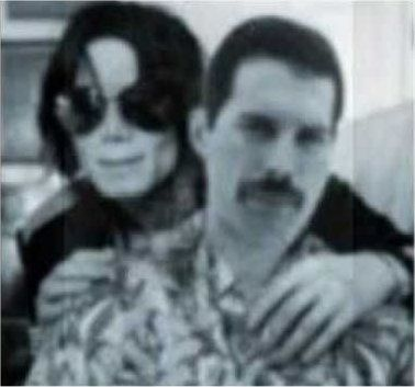 Freddie Mercury and Michael Jackson 1980s (rare)