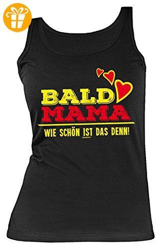Damen Trägershirt, Tank Top für werdende Mamas zum Geburtstag und Muttertag, Sprücheshirt, Funshirt - Bald Mama Wie schön ist das denn! (*Partner-Link)