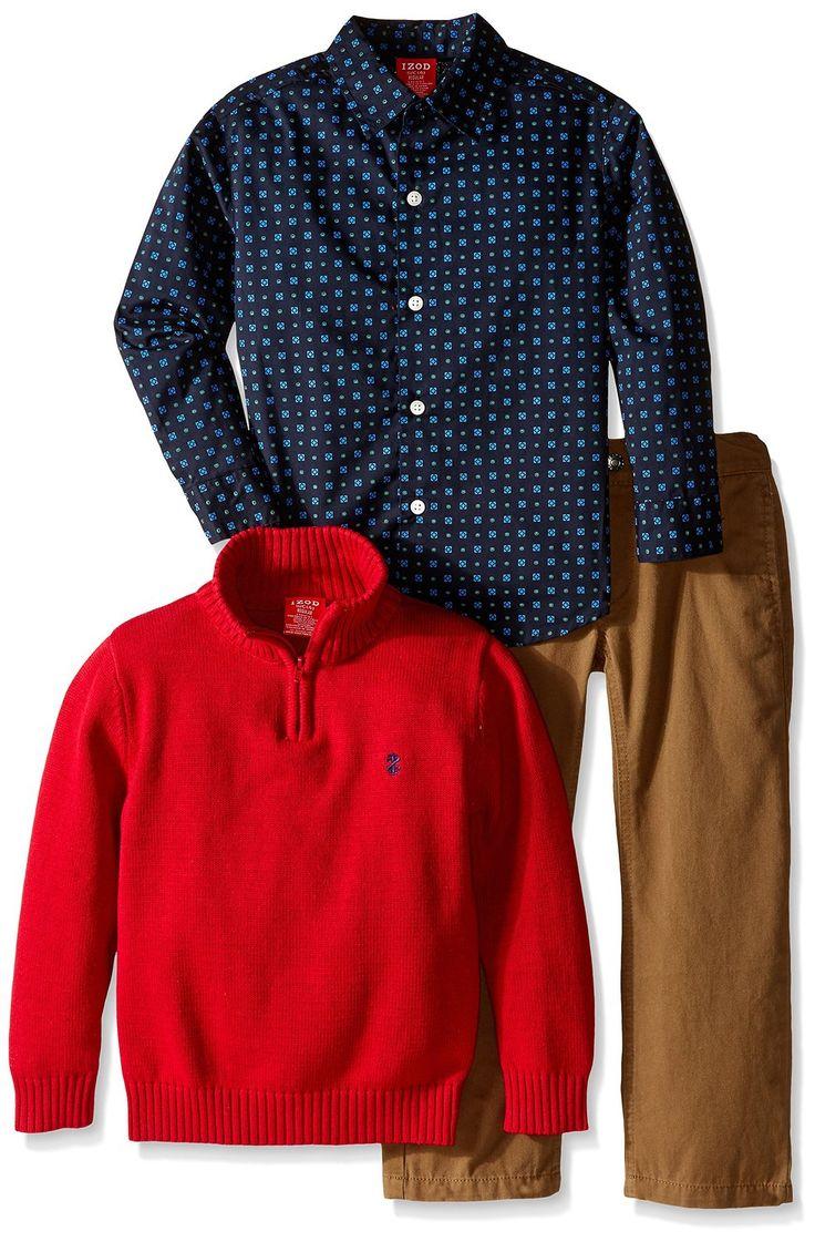 Amazon.com: IZOD маленьких мальчиков '3 шт Half Zip Set: Одежда