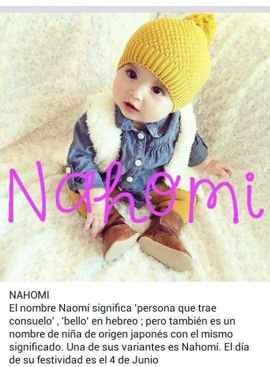 Nombres de niñas, significado del nombre Nahomi; hermoso Beatríz Nahomi