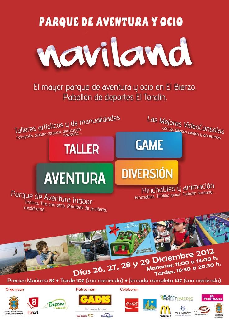 Disfruta del mayor parque de aventura y diversión para estas Navidades. Te esperamos en NAVILAND BIERZO. http://www.bierzonatura.es