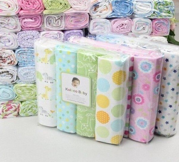 4pcs Pack 100 Cotton Supersoft Flannel Baby Blanket Baby Diy Opinions For Swaddle In 2020 Baby Swaddle Wrap Baby Receiving Blankets Flannel Baby Blankets