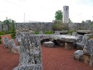 "Coral Castle - Leedskalnin never told anyone who asked him how he made the castle. He would simply answer ""It's not difficult if you know how."""