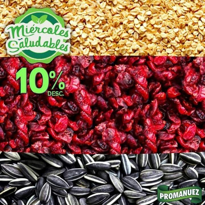 Mantente saludable y come rico con #Promanuez, hoy en todas nuestras sucursales, tenemos el 10% de #descuento en toda nuestra línea de productos #saludables. ¡Te esperamos!  http://www.promanuez.com.mx/productos