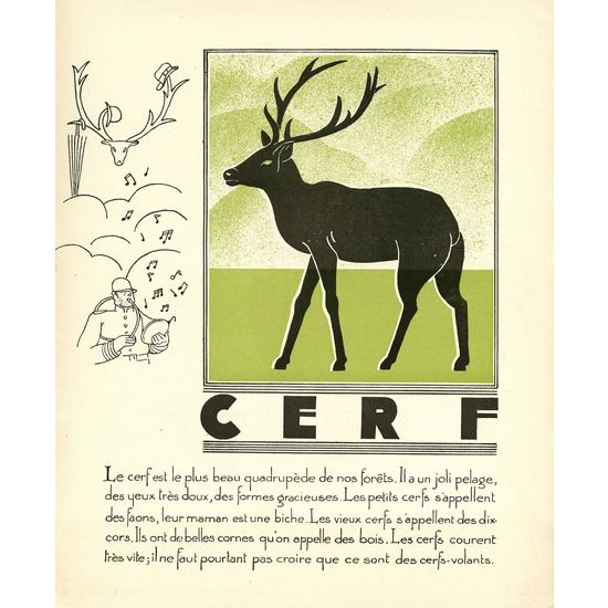 Reindeer Giclee, Art Deco Illustration #huntersalley