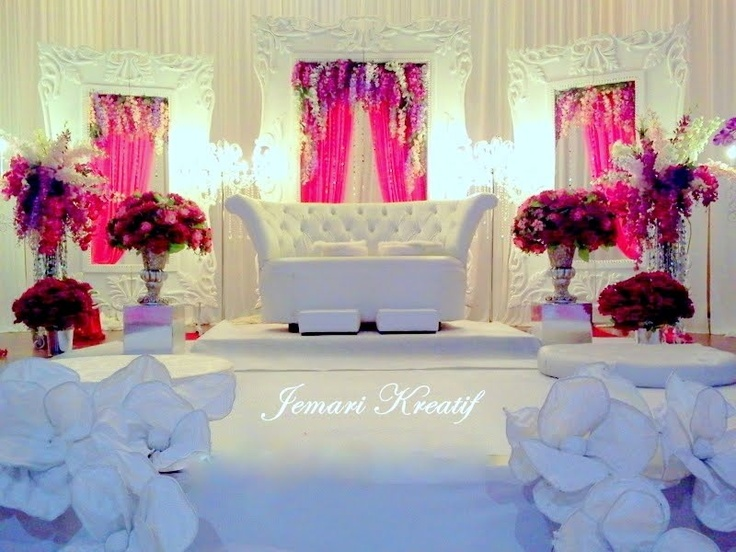 Pink Purple And White Wedding Stage Wedding Stages