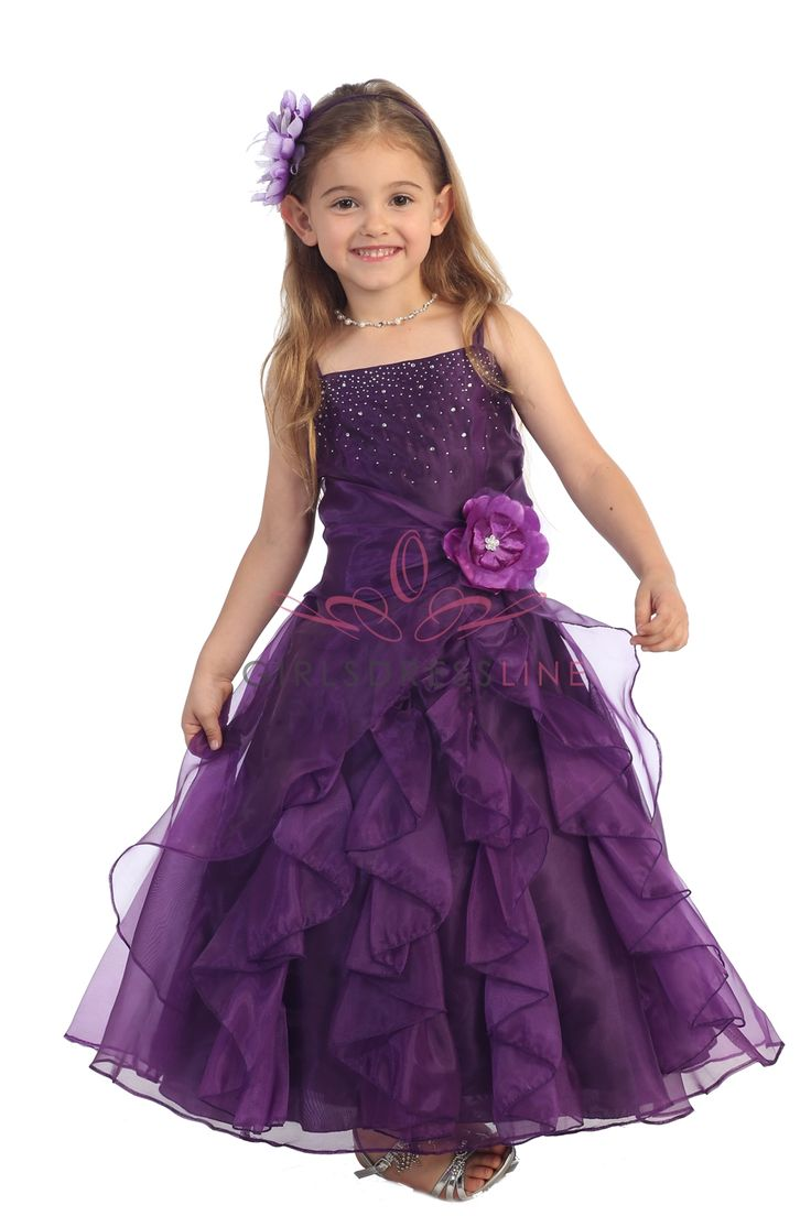 92 best bridesmaid dresses images on pinterest bridesmaids plum jeweled bodice ruffle layered organza flower girl dress ombrellifo Images