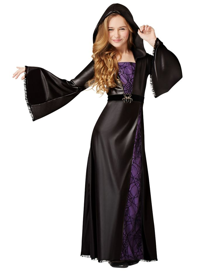 spider sorceress girls costume exclusively spirit halloween spin your webs and magic in the spider - Kids Spider Halloween Costume