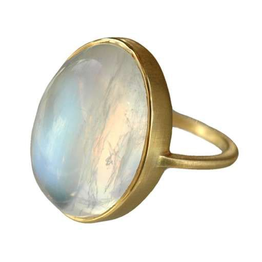 Gold Moonstone Ring by Conroy