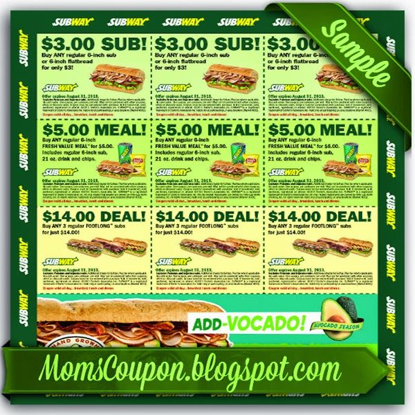Subway 10 off 50 coupon code February 2015