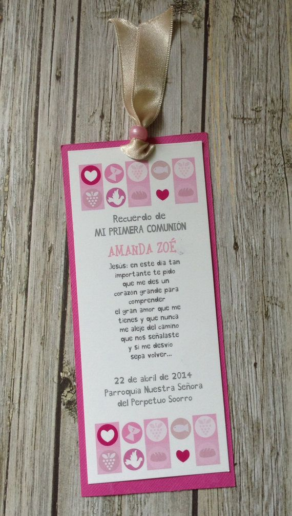 DIY PRINTABLE- COMMUNION - Baptism Cards - Bookmark Favors