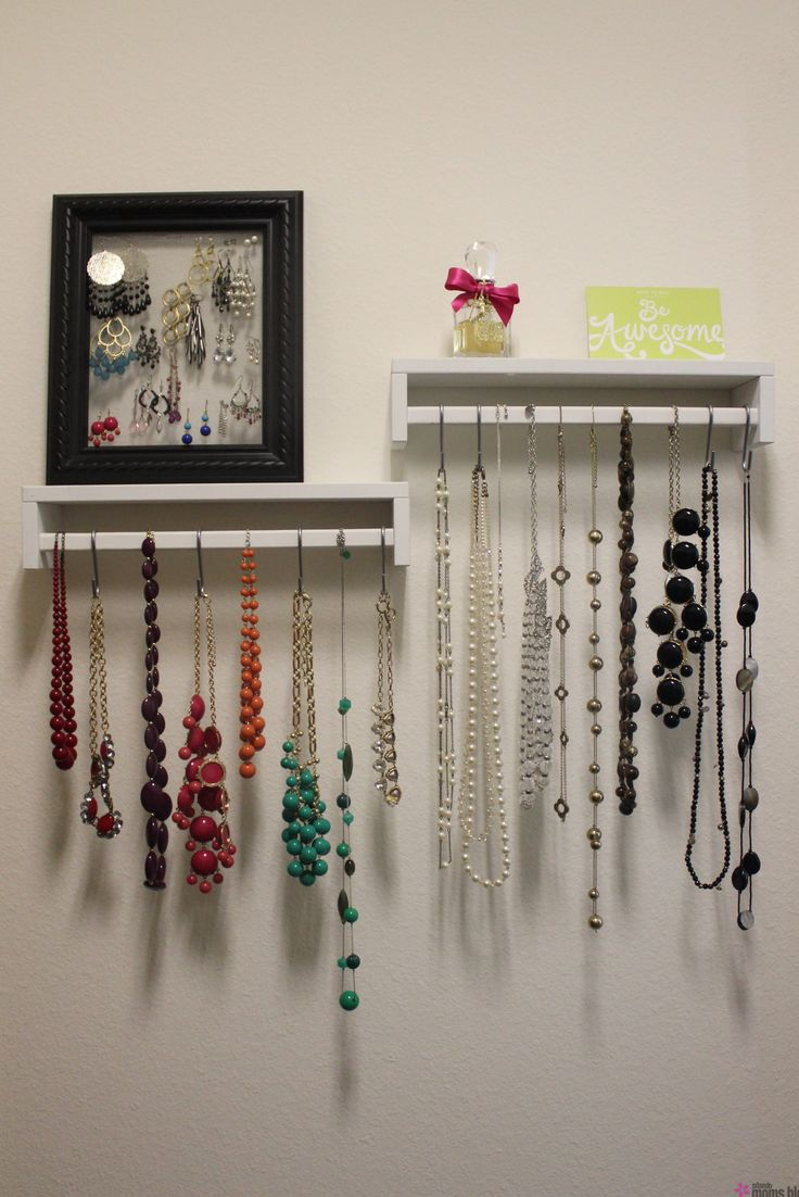IKEA spice rack hack necklace jewelry holder