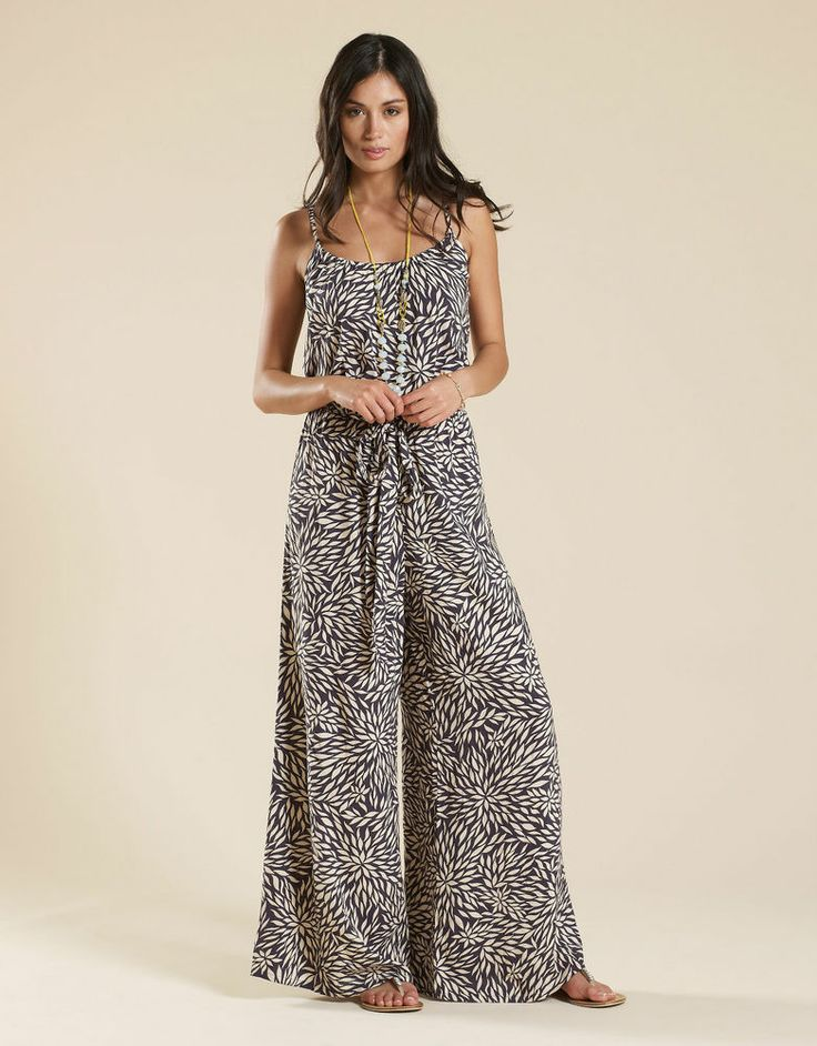 NEW This Season Monsoon Navy White Nadine Leaf Print Jumpsuit SOLD OUT XS S M L