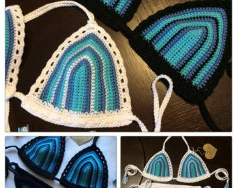 Crochet Bikini Top American Flag Bikini by InLoveWithSunflowers