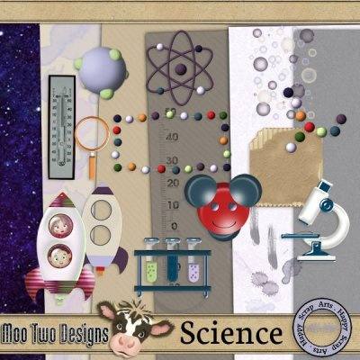 Science By Happy Scrap Arts [Moo Two Team] - $2.00 : Moo Two Designs, The Udder way to Scrap!