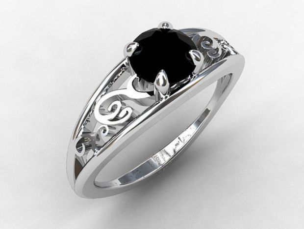 Stretchy Wedding Bands >> 25+ best ideas about Gothic Engagement Ring on Pinterest | Black gold rings, Blue rings and Sapphire