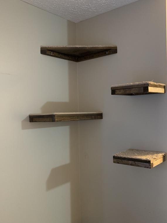 26++ Diy corner cat shelves inspirations