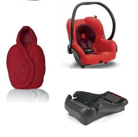 Quinny 2011 Mico Car Seat and Footmuff Set in Intense Red. This set includes: 1 car seat and 1 matching footmuff. Car seat features: The Maxi-Cosi Mico Car Seat's lightweight design makes it easy for travel. New Improved Canopy Design New Infant Insert Side Impact Protection Lightweight design Energy absorbing EPP foam Adjustable stay-in-car base 5-point harness with up-front adjustment Compatibility with all Maxi-Cosi and Quinny strollers. Recommended Use: Weight: 5-22 pounds (2.3-10 kg)...
