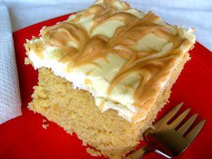 Peanut Butter Banana Cake http://www.smokedngrilled.com/peanut-butter-banana-cake/