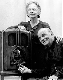 Ellen Corby and Edgar Bergen, played Grandma and Grandpa Walton in the original made for TV movie, The Homecoming A Christmas Story, 1971. Years before they played Aunt Trina and Mr. Thorkelson in the 1948 movie I Remember Mama.