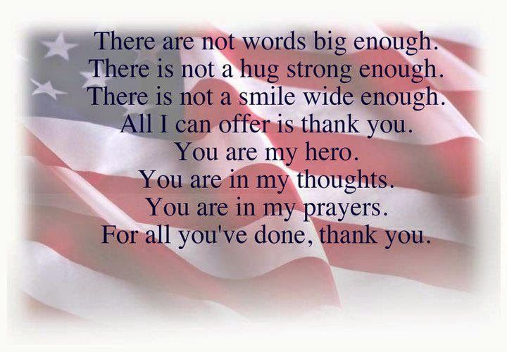 veteran quotes thank you | ... from a simple life: Honor those who have served…