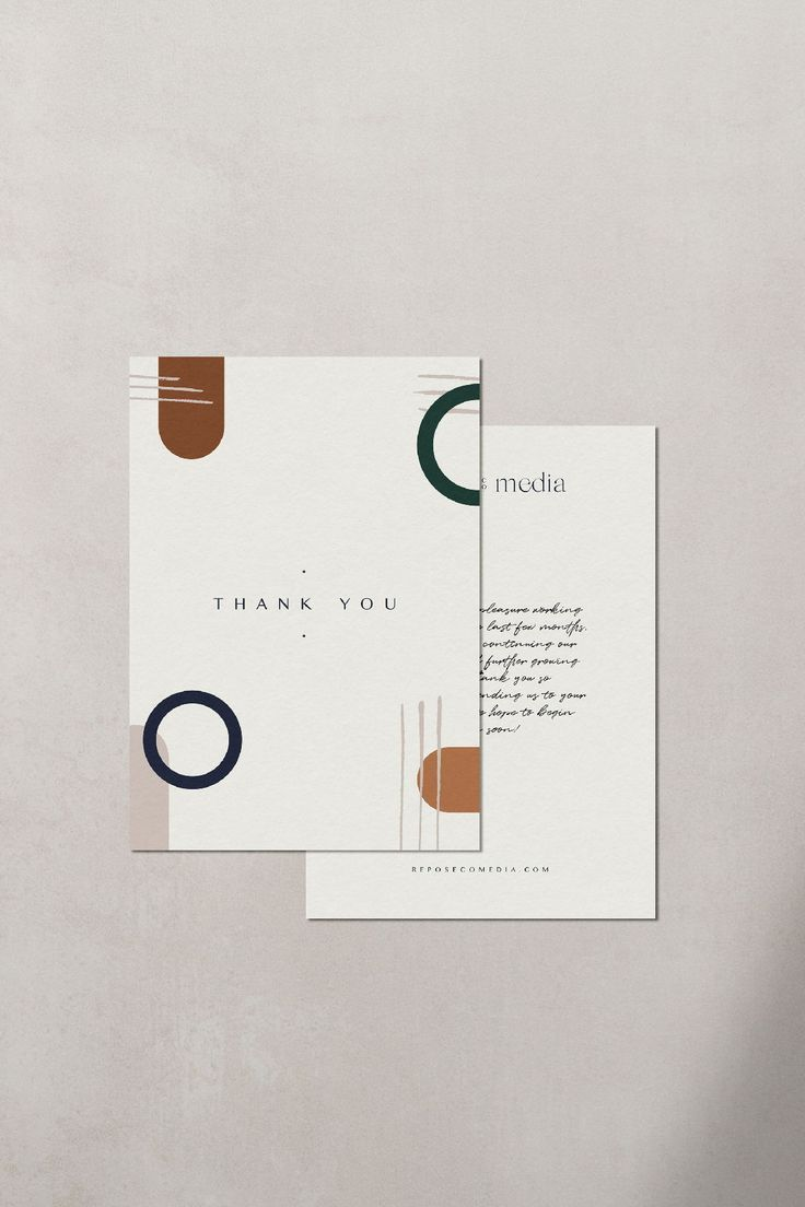 Every brand needs printed matter! This thank you postcard