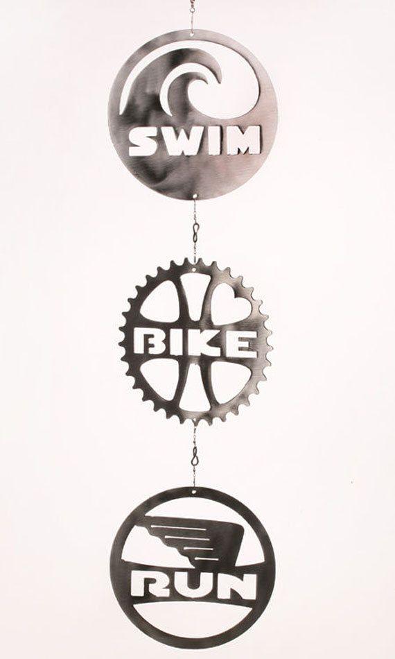 Triathlon Swim Bike Run Wind Chain Spinner