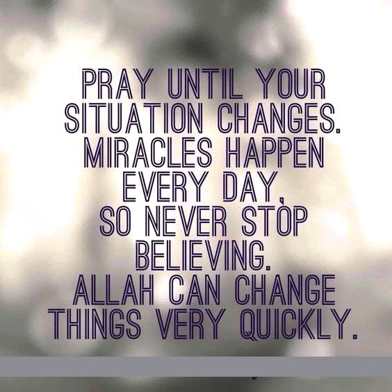 Allah can change things