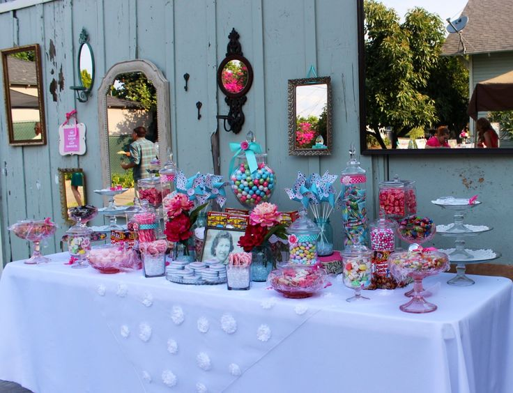 moms 93rd birthday vintage candy buffet