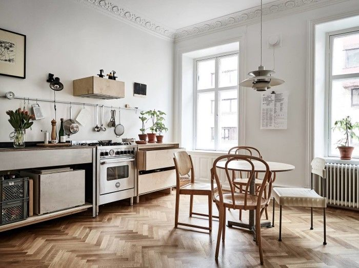 minimalist wood kitchen