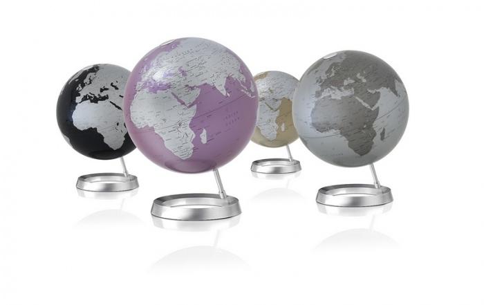 mappemonde globe g ographique design vision amethyst http deco maison. Black Bedroom Furniture Sets. Home Design Ideas