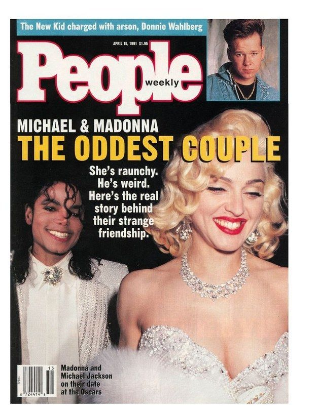 """This is almost tabloid-style bait-and-switch: """"oddest couple"""" that isn't actually a couple at all! Excellent use of """"raunchy."""" 