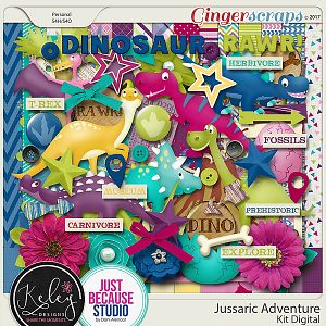 Jurassic Adventure Kit by Keley Designs and JB Studio